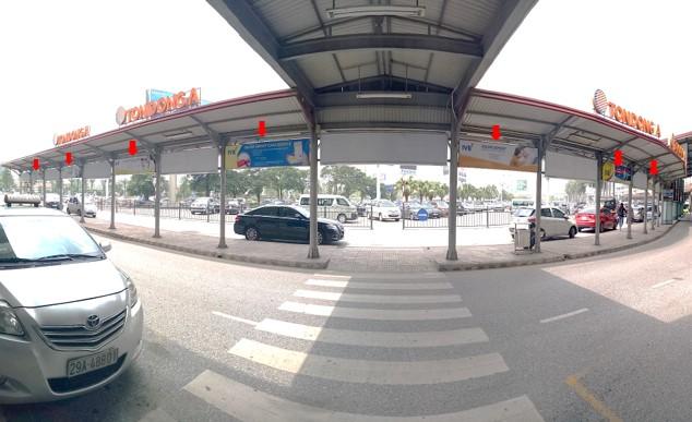 Vị trí OP51 – OP65: Tại mái che làn đón xe - trước cửa sảnh B của Nhà ga T1