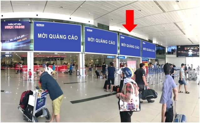 Vị trí DC02: Khu vực check-in sảnh Vietjet, Ga đi Quốc nội