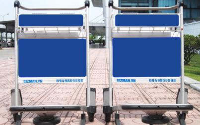 Xe đẩy hành lý tại Cảng HKQT Đồng Hới