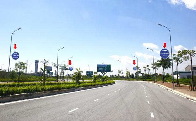 Hệ thống Logo đường dẫn lối vào Cảng hàng không Quốc tế Cát Bi hướng nhìn từ đường Lê Hồng Phong đi vào