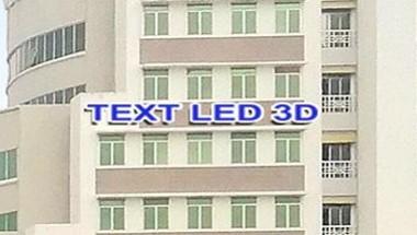 Hình ảnh cận cảnh vị trí gắn logo chữ LED.