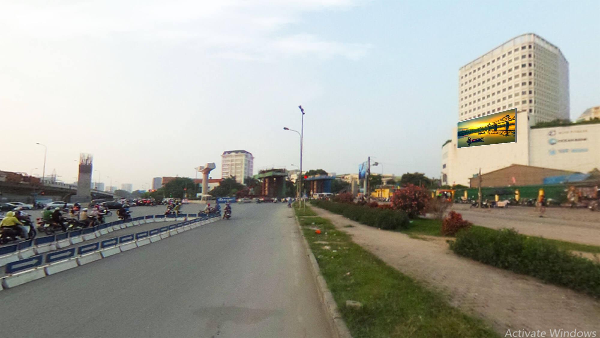 Hướng nhìn Phạm Hùng đi Cầu Thăng Long